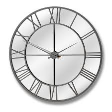 wondrous mirrored wall clock 141 large mirrored wall clocks home