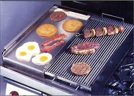 add on stove top half broiler and half griddle combo 4 burner gas