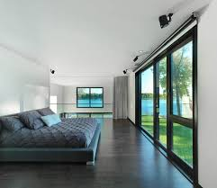 Grey Flooring Bedroom Bord Du Lac House Henri Cleinge Architecture Lab