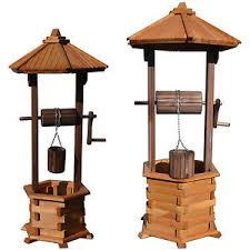 wishing well large wooden 1 25 1 35 m garden ornaments wood with