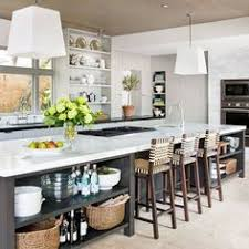 kitchen island instead of table faux brick back splash and wood kitchen island decorate it