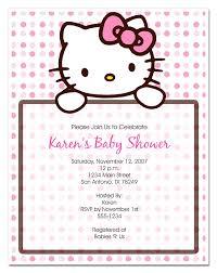 baby shower invitations cute hello kitty baby shower invitations