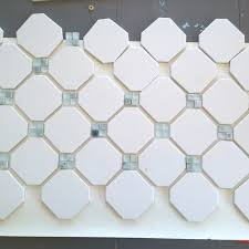 fireplace makeover octagon dot tile averie fireplace