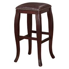 linon san francisco square top bar stool brown walmart com