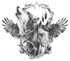 fake horse head wolf horse temporary tattoo by wildlifedream on etsy 2 00