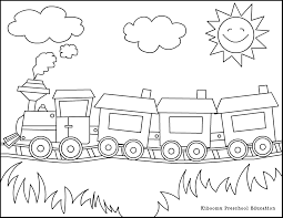 coloring pictures of trains preschool days pinterest
