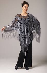 a very romantic and stunning pancho in burntout velvet in