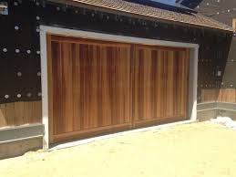 garage doors custom custom wood vertical t u0026g in sapele mahogany aj garage door