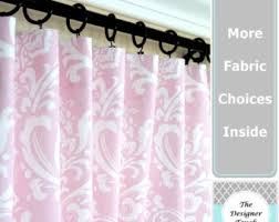 Pink Nursery Curtains Nursery Curtains Etsy