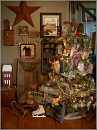 primitive christmas tree primitive country christmas tree decorations is one of the best