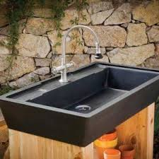 outdoor kitchen sinks with single bowl and faucet practical