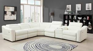 living room sets leather 6 pc instrumental collection white bonded leather upholstered