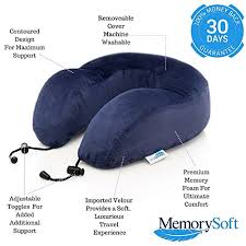 Alaska travel pillows images Luxury travel neck pillow by memorysoft extremely soft comfy jpg
