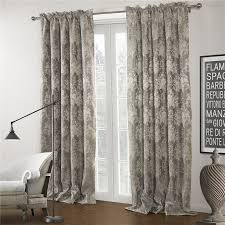 Floral Jacquard Curtains Luxurious Jacquard Floral Grey Patterned Curtains