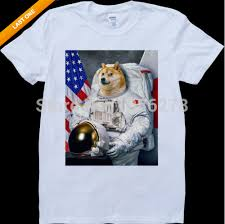 Custom Meme - newest 2017 mens custom t shirts tribute to doge dog astronaut meme