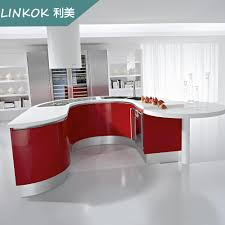 Red Lacquer Kitchen Cabinets 2017 linkok furniture e1 grade material environment protection