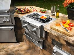 kitchen comfort cooking in modern outdoor kitchen design combined