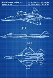 Mechanical Decor Yf 23 Airplane Patent Airplane Blueprint Aviation Art Airplane
