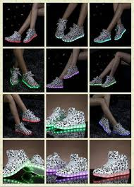 light in the box dance shoes note design colorful lights usb charging shoes led luminous men