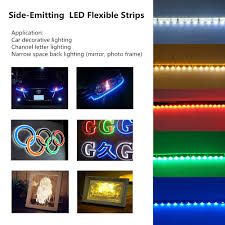 led color changing light strips side emitting rgb color changing led strip lights smd020 16 4ft 5m