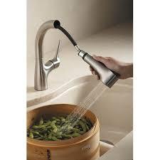 kohler elate kitchen faucet k13963 vs elate pull out spray kitchen faucet vibrant stainless