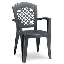 Bunnings Outdoor Furniture Juliette High Back Stacking Arm Chair In Anthracite Grey U2013 The