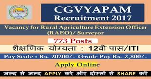 cgv pay 12th pass iti 773 posts cgvyapam recruitment 2017 salary