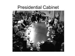Define Presidential Cabinet The Second Article The Executive Branch Ppt Download