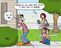 smart houses connected tech cartoons and comics funny pictures from cartoonstock