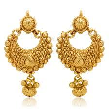golden earrings buy donna ethnic gold plated diya earrings for women er30025gc