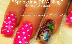 robin moses nail art spring bling nails high glitz nail art