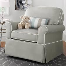White Glider Rocker Furniture Stuffed Rocking Chair Cushioned Rocking Chair