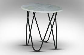 Marble Side Table Rice Furniture Taj Marble Side Table White