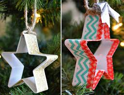 use a cookie cutter to create stunning ornaments here