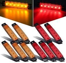 red led marker lights 2018 3 8 inch 6 led amber side led marker trailer lights trucks