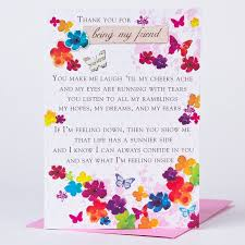 thank you card being my friend only 99p