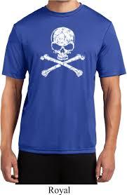 Halloween 3 T Shirt by Mens White Distressed Skull Moisture Wicking T Shirt White