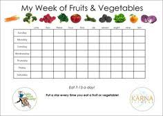printable vegetable planner fruit and veggie tracker printable day 23 free printable water