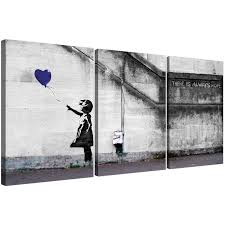 20 inspirations banksy wall art canvas wall art ideas banksy balloon girl canvas wall art set of three for your boys bedroom for banksy wall