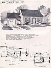 small cape cod house plans 1955 national plan service no e 610 vintage house plans