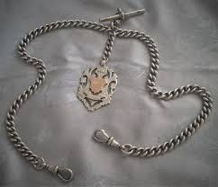 silver watch chain necklace images A victorian hallmarked solid silver double albert pocket watch jpg