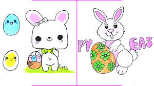 easter drawings how to draw a easter bunny with easter egg