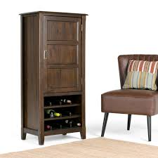 Espresso Bar Cabinet Simpli Home Burlington 12 Bottle Espresso Brown Bar Cabinet