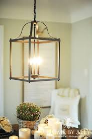 Lowes Kitchen Lighting Fixtures Lowes Allen Roth Light Fixture Farmhouse Fall Home Tour