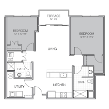 what is wh in floor plan apartment floor plan g mosaic on oakland luxury apartments