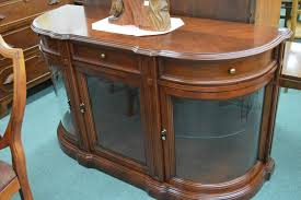 Curved Sideboard Matched Grain Curved Glass Sideboard With Illuminated Sections And