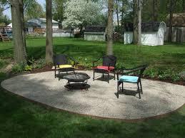 Backyard Stone Patio Ideas by Gravel Patio Designs Lightandwiregallery Com