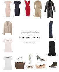 Wardrobe Clothing Paris To Go 10 Piece Spring Wardrobe