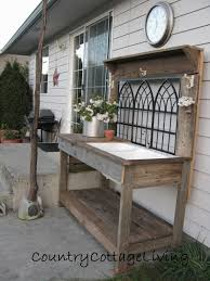 Inexpensive Potting Bench by Garden And Potting Tables Potting Bench Plans Garden Potting