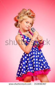 portrait cute little pinup over stock photo 128043347